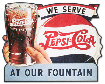 Pepsi Cola Served Here Wood Sign