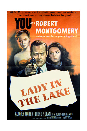 Lady in the Lake - Movie Poster Reproduction Art