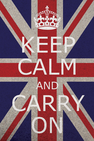 """Keep Calm and Carry On"" Union Jack Poster"