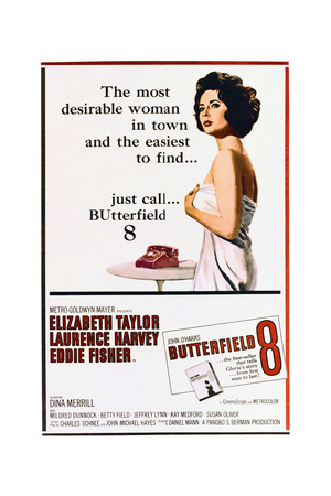 BUtterfield 8 - Movie Poster Reproduction Prints