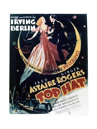 Top Hat - Movie Poster Reproduction Poster