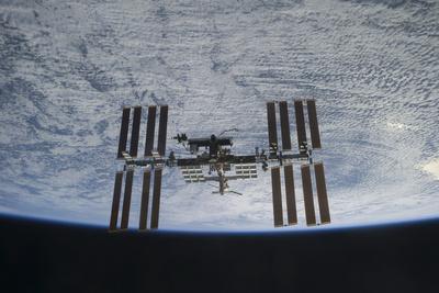 The International Space Station in Orbit Above Earth Photographic Print!