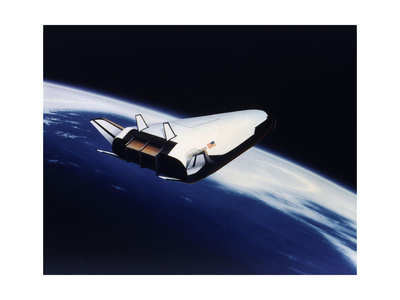 Artist's Rendering of the X-33 Reusable Launch Vehicle Poster