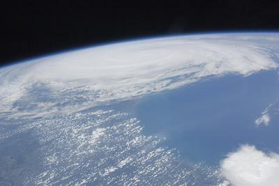 Hurricane Irene over Cape Hatteras, North Carolina Photographic Print