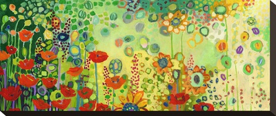 Garden Poetry キャンバスプリント : ジェニファー・ロマース