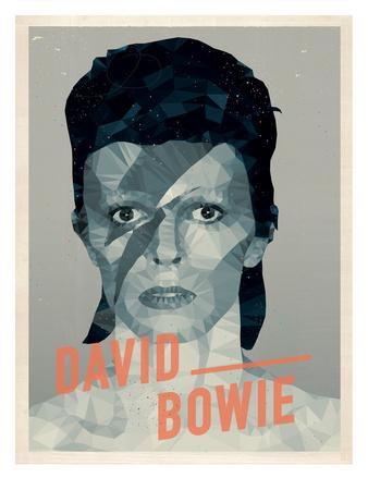 David Bowie Posters by Maria Hernandez