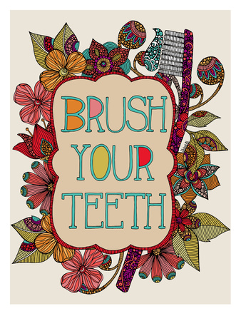 Brush Your Teeth Art by Valentina Ramos