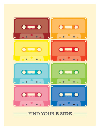 Cassette Vintage Prints by Patricia Pino