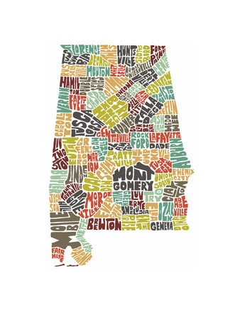 Alabama (color) Print
