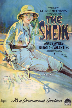The Sheik Movie Rudolph Valentino Agnes Ayres Poster Print Posters