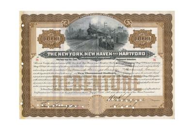 Rail Share Certificate Giclee Print