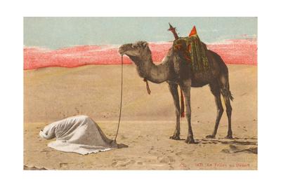 Praying in the Desert Giclee Print