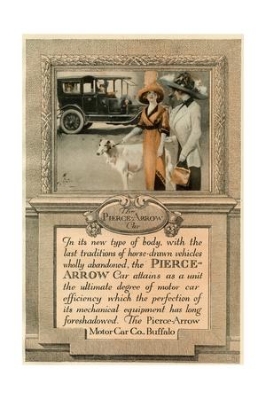 Pierce-Arrow and Borzoi Giclee Print
