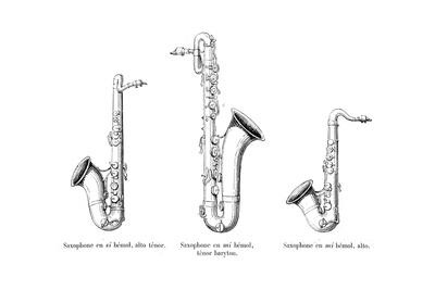 Three Saxophones Giclee Print