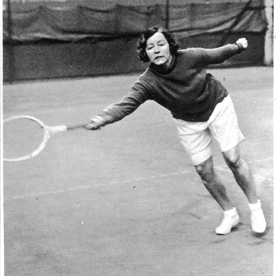 Miss Tomblin in Tennis Shorts Photographic Print