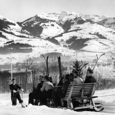 Ski Sledge 1930S Photographic Print
