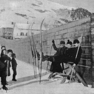 Doyle, Skiing, Alps 1894 Photographic Print