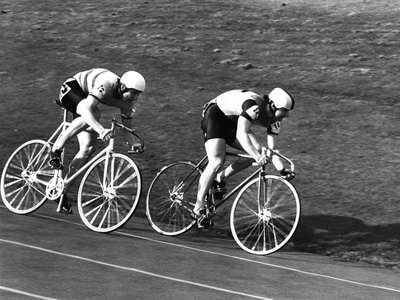 Sprint Cyclists Photographic Print