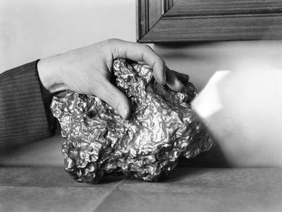A Gold Nugget Photographic Print