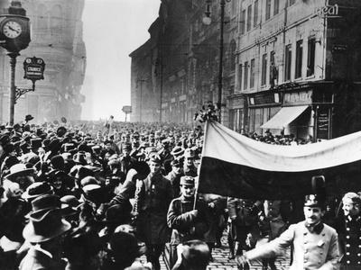 Revolution in Prague Photographic Print