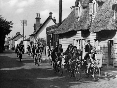 Ladies Cycling Club Photographic Print