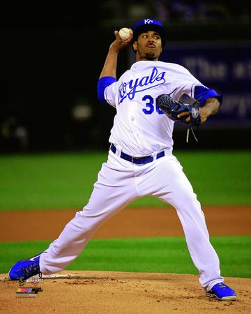 Yordano Ventura Game 2 of the 2014 World Series Action Photo