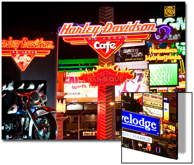 The Strip - Las Vegas - Nevada - United States Poster by Philippe Hugonnard