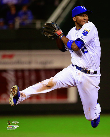 Alcides Escobar Game 2 of the 2014 World Series Action Photo