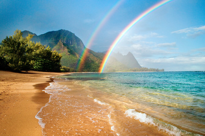 Hawaii Rainbow Photographic Print by M Swiet Productions