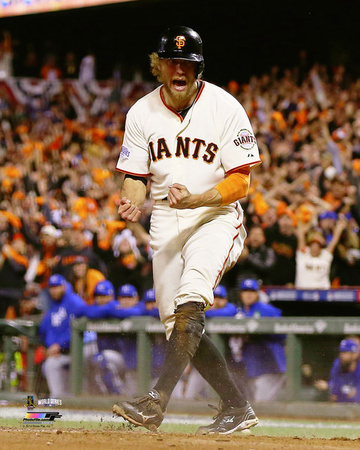 Hunter Pence Game 5 of the 2014 World Series Action Photo