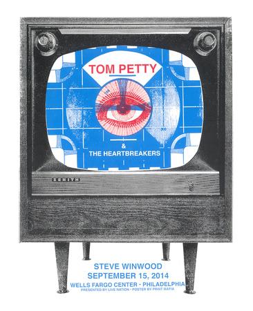 Tom Petty Serigraph by  Print Mafia