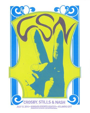 Crosby, Stills & Nash Serigraph by  Print Mafia