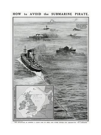 How to Avoid the Submarine Pirate Premium Giclee Print by G.h. Davis