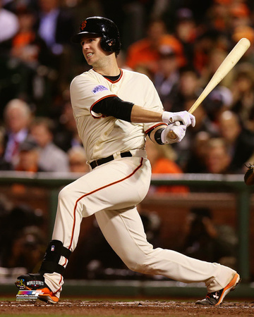 Buster Posey Game 4 of the 2014 World Series Action Photo