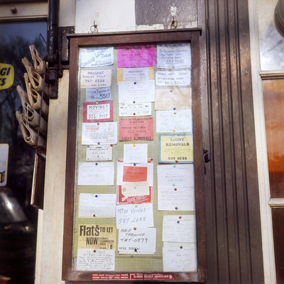Newsagent's Notice Board Photographic Print by Gill Emberton