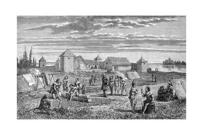 Fort Yukon, Alaska Giclee Print by Frederick Whymper