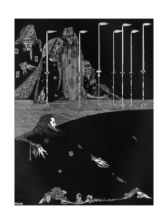 Poe, Tales, Pit and Pendulum Premium Giclee Print by Harry Clarke