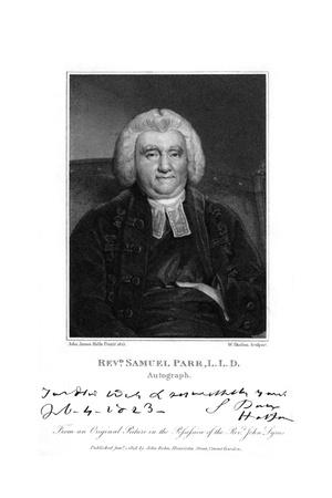 Samuel Parr Giclee Print by John James Halls