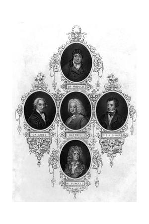 Eminent 18th Century Musicians Giclee Print by John Tallis
