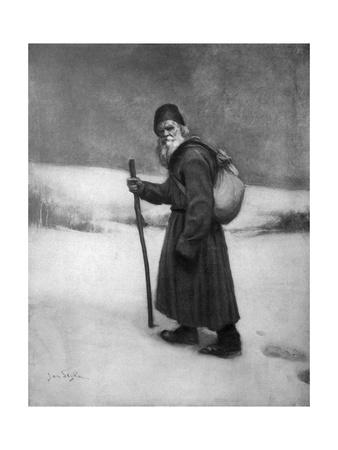 Tolstoy Last Journey Premium Giclee Print by Jan Styka