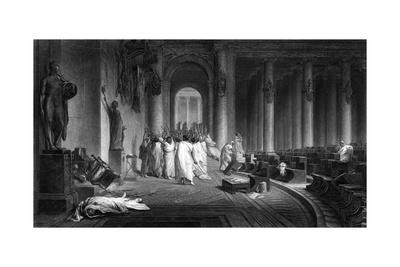 Death of Caesar 44 BC Giclee Print by J.c. Armytage