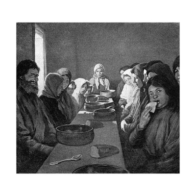 Tolstoy Eating-Room Giclee Print by Kenyon Cox