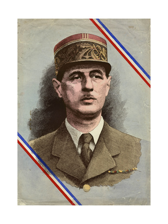 Charles de Gaulle Premium Giclee Print by L. Serre