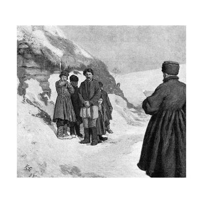Tolstoy and Starving Giclee Print by Kenyon Cox
