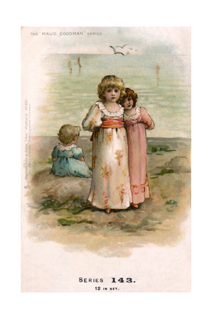 Little Girls at the Seaside Giclee Print by Maud Goodman