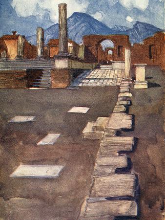 Pompeii, the Forum Photographic Print by Maurice Greiffenhagen
