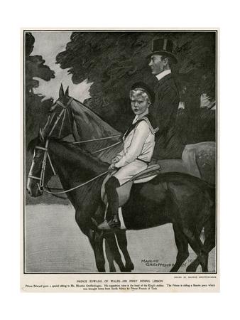 Edward VIII Rides Premium Giclee Print by Maurice Greiffenhagen