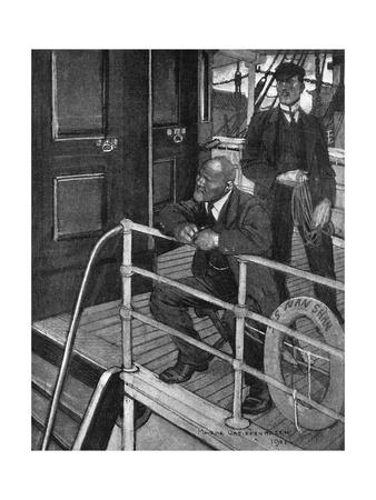 Conrad, Typhoon, on Deck Premium Giclee Print by Maurice Greiffenhagen