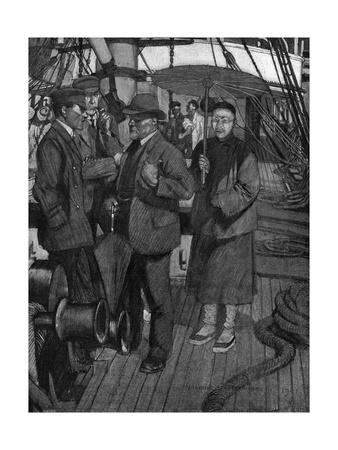 Conrad, Typhoon, Parasol Premium Giclee Print by Maurice Greiffenhagen