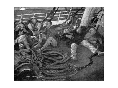 Conrad, Typhoon, Chinese Premium Giclee Print by Maurice Greiffenhagen